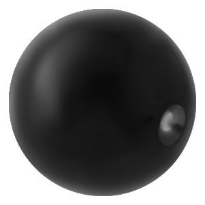 Black Surgical Steel Clip-In Ball