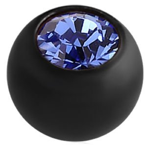 Blackline Threaded Jewelled Ball - Dark Blue