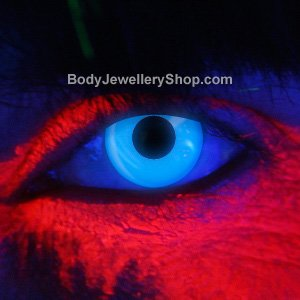 Spooky Blue UV Contact Lenses (Pair)