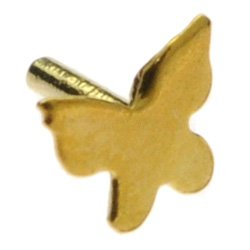 Gold Plated Push-Fit Accessory - Butterfly