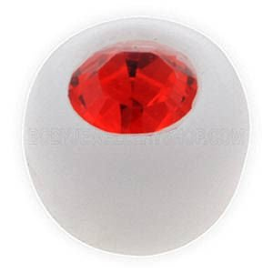 Clear Bioflex Jewelled Push-Fit Ball - Red