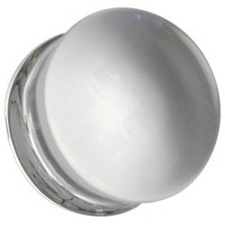 Glass Plain Flesh Plug - Clear