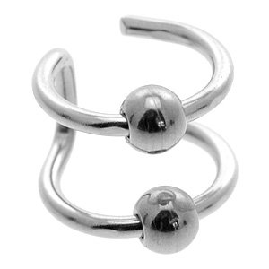 Steel Clip On Ear Cuff - 2 BCRs