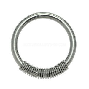 Surgical Steel Cobra Coil Ring