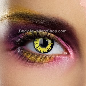 Colour Vision Yellow Werewolf Contact Lenses (Pair)