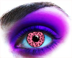 Leopard Pink Party Contact Lenses