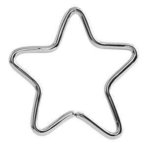 Continuous Star Piercing Ring