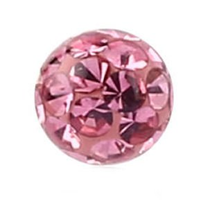Crystal Cluster Threaded Ball - Pink