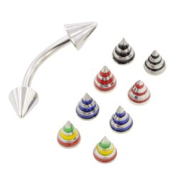 Horizontal Eyebrow Piercing Jewellery