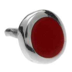 Silver Push-Fit Disc - Red