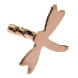Rose Gold Plated Push-Fit Accessory - Dragonfly