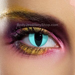 Spooky Aqua Cat Contact Lenses (Pair)