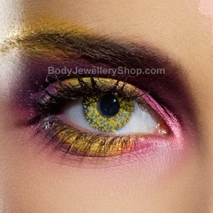 Spooky Glimmer Gold Contact Lenses (Pair)