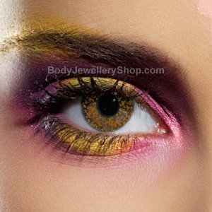 Spooky Glimmer Hazel Contact Lenses (Pair)