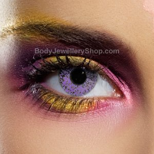 Spooky Glimmer Violet Contact Lenses (Pair)