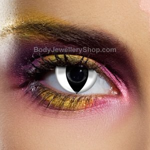 Spooky White Cat Contact Lenses (Pair)