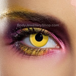 Spooky Yellow Contact Lenses (Pair)