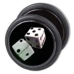 Fake Ear Plug - Dice