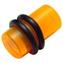 Ultra Violet UV Fluoro Flesh Plug - Orange