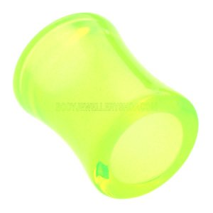 Acrylic Double Flared Eyelet - Fluorescent Green