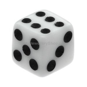 UV Fluoro Threaded Dice - White