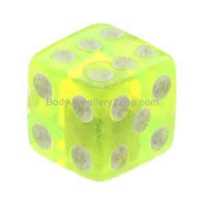UV Fluoro Threaded Dice - Green