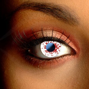 Funky Blood Splat Contact Lenses
