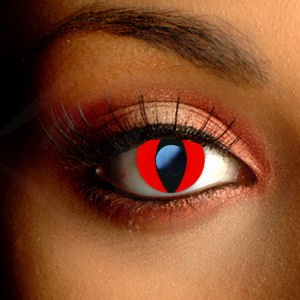 Funky Red Cat Eye Contact Lenses