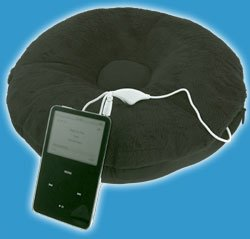 giftware items electrical itunes speaker pillow cozytunes black 7 Hi Tech Sound Pillows for your iPod