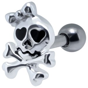 Girly Skull Ear Piercing Stud