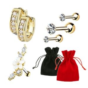 Gold Plated Curated Ear Gift Set 03