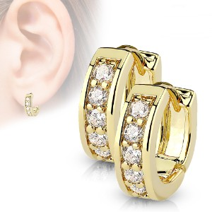 Gold Plated Huggie Hoop Earrings