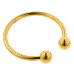 Gold Plated Micro Circular Barbell