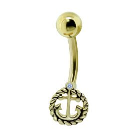 Gold Plated Sterling Silver Anchor Bananabell