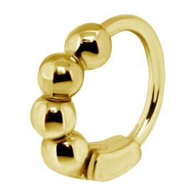 Gold Plated Surgical Steel Helix Ring