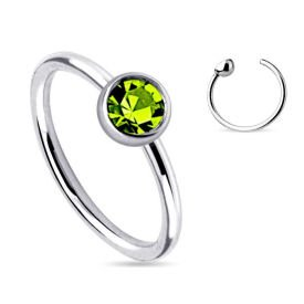 Green Jewel Fake Nose Ring