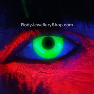 Spooky Green UV Contact Lenses (Pair)