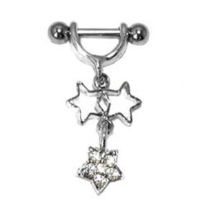Helix Piercing Shield - Star Charms