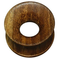 Hollow Wood Plug - Teak