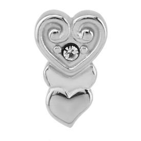 Jewelled Crystal Heart Threaded Attachment