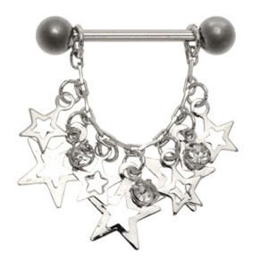 Jewelled Star Nipple Shield - Clear