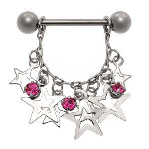 Jewelled Star Nipple Shield - Pink
