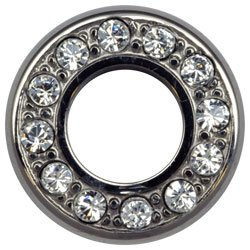 Titanium Jewelled Fronts for Internally Threaded Flesh Tunnels - Clear