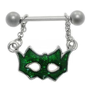 Masquerade Ball Mask Dangle Nipple Shield