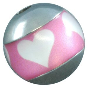 Titanium Meridian Threaded Ball - Hearts