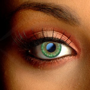 Natural Green Floral Contact Lenses