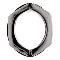 Non-Piercing Silver Nipple Clamp - Hexagon