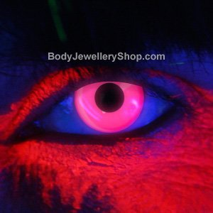 Spooky Pink UV Contact Lenses (Pair)