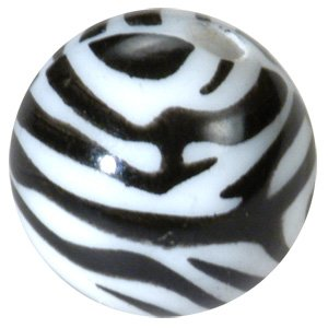 Pmma Threaded Zebra Ball Buy Jewellery