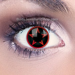 Red Pentagram Contact Lenses